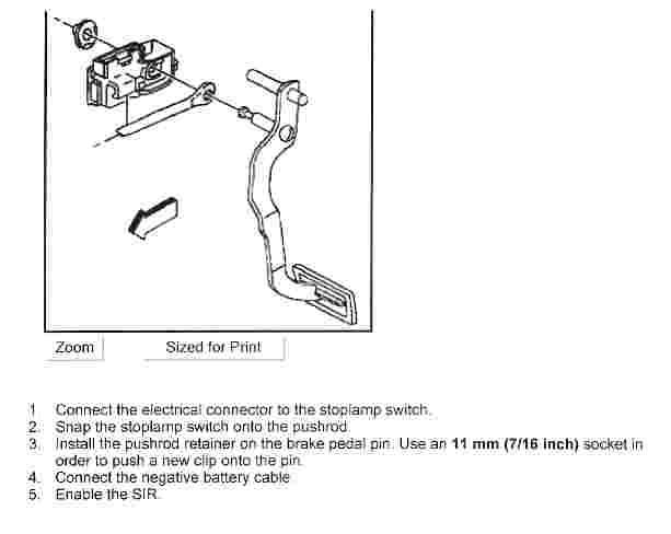 service manual  how to replace stoplight switch on a 1989