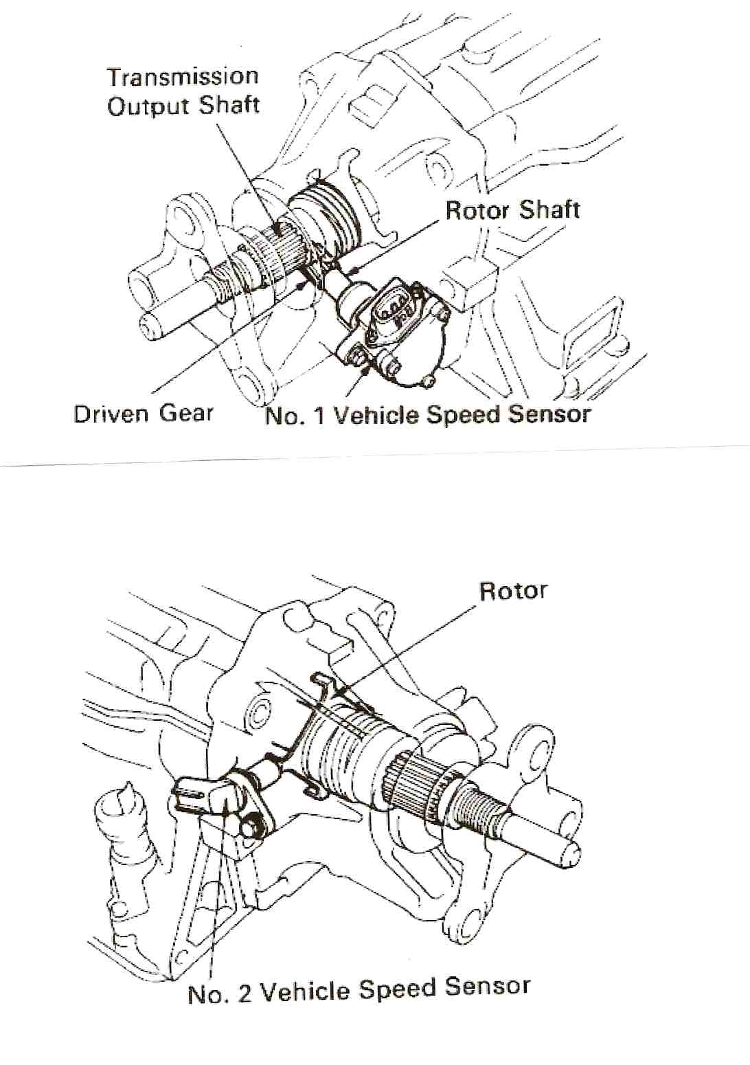 on a 1991 lexus ls 400 where is the speed sensor located they are both located on the rear of the transmission i would say xxxxx on the scale i will send some diagrams and