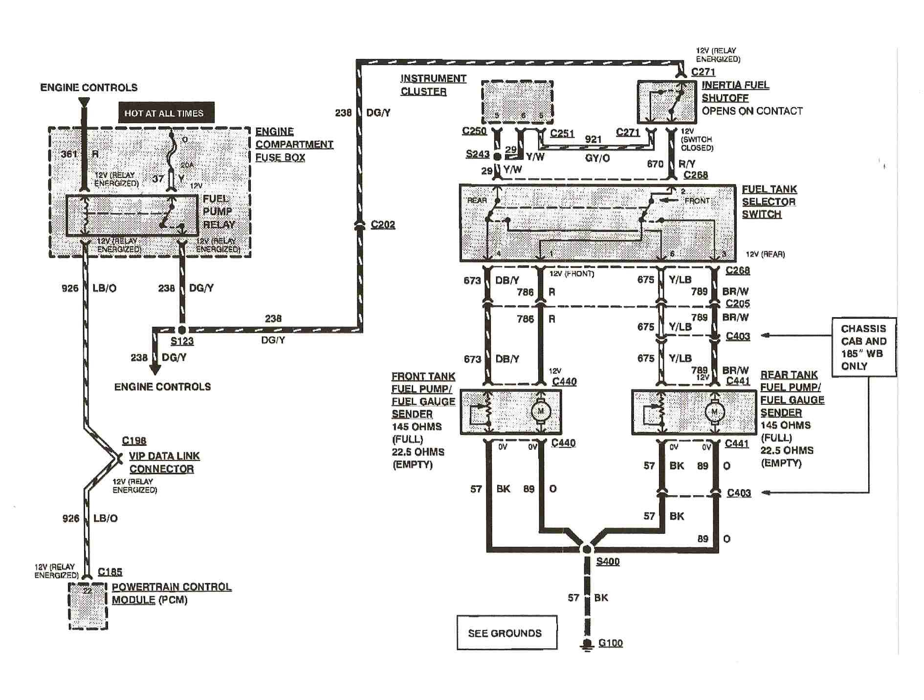1993 ford f150 4wd. rear fuel pump not coming on. q: what ... 1993 ford f 150 ignition wiring diagram 2008 ford f 150 ignition wiring diagram
