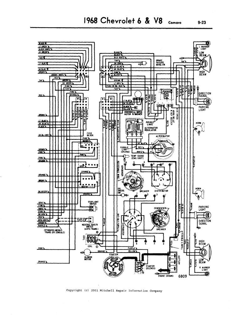 i just installed a new chevy  crate engine in my  camaro., wiring diagram