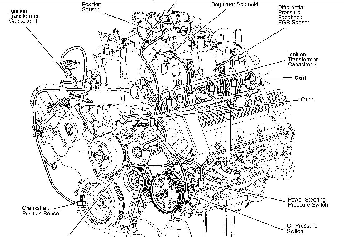 2007 F150 4 6 Engine Diagram besides Coolant Leak Backside 92 3 0efi 163154 further Location Of The Coolant Temperature Sensor On A Triton 4 6 Engine further Expedition 5 4 Crank Sensor Location additionally Heating System Diagram 2002 Lincoln. on 2003 ford expedition coolant sensor location