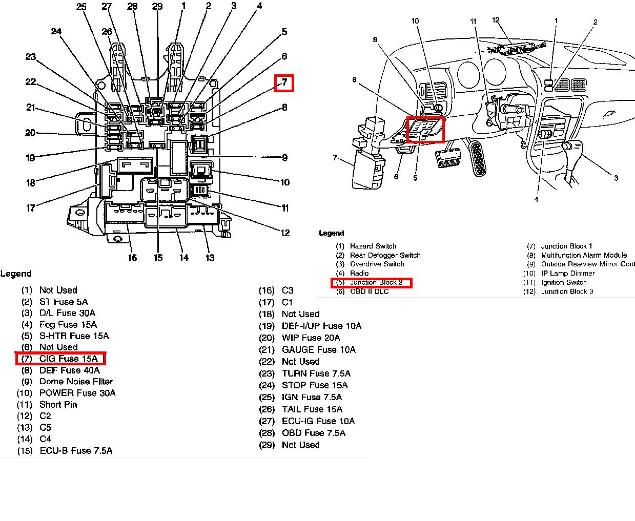 2000 chevrolet prizm fuse box diagram  chevrolet  auto