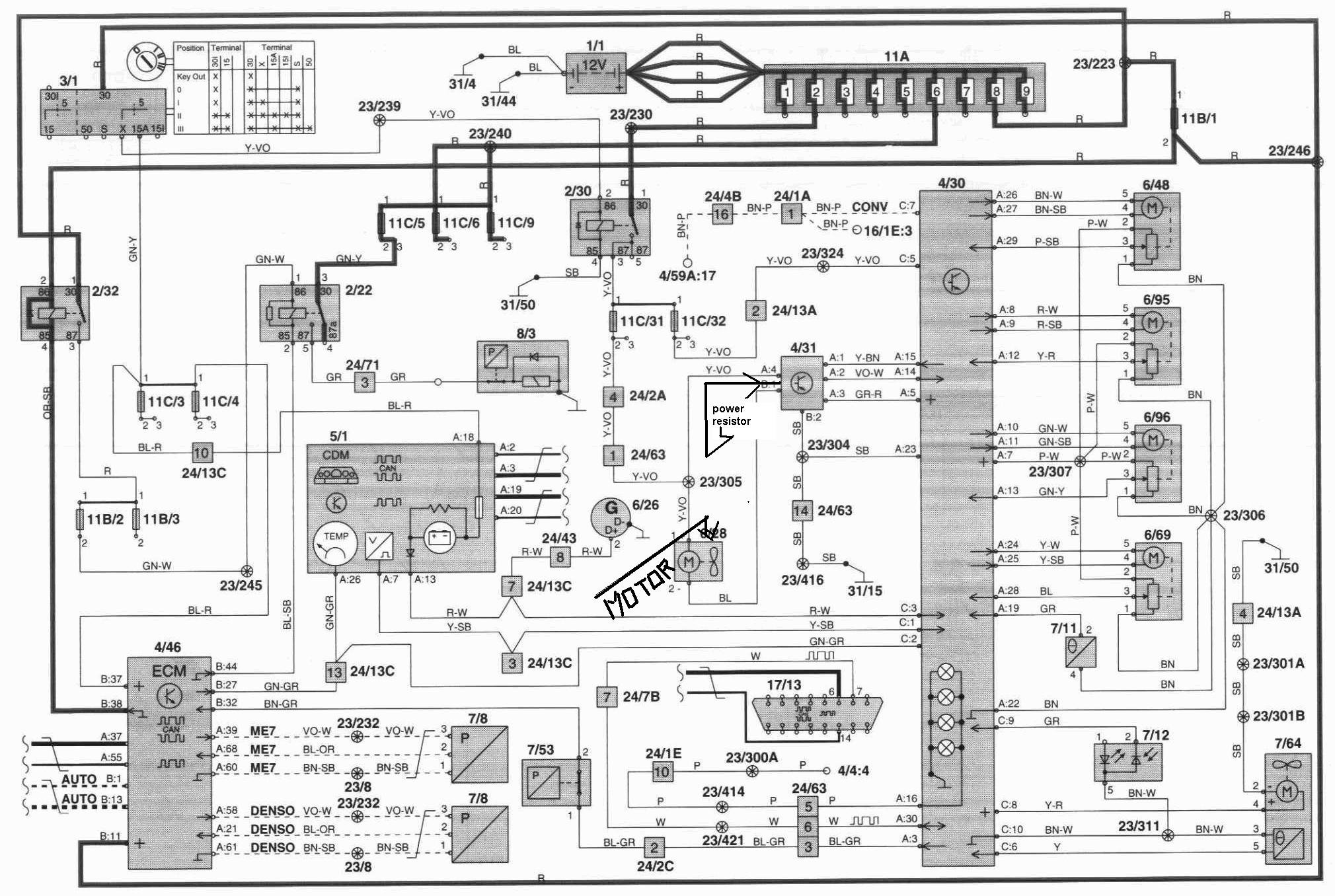 volvo climate control questions answered 1997 volvo wiring diagrams