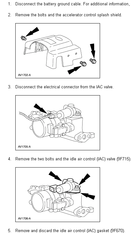 idle air control valve replacing