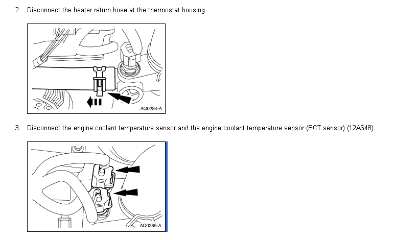 where is the thermostat located on 1998 ranger 4cyl