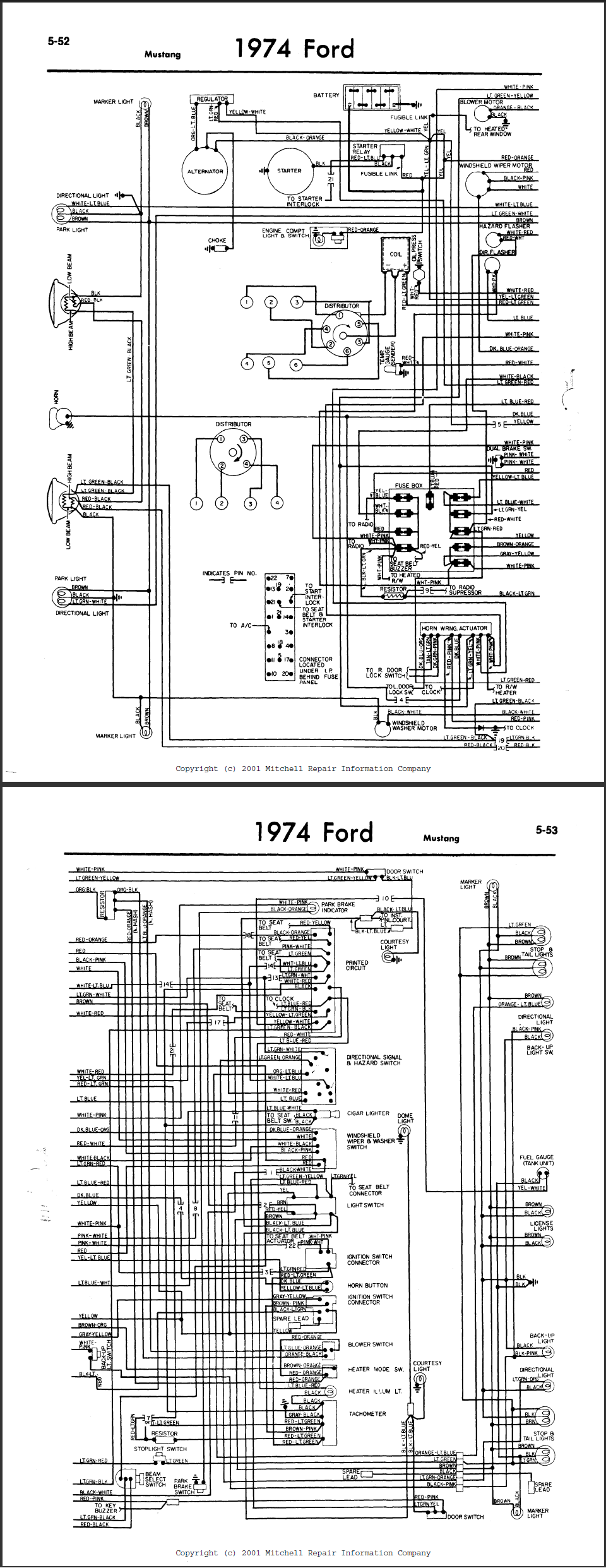 i am rebuilding a 1974 ford mustang ii, and i need the ... 1974 ford courier wiring diagram 1974 ford alternator wiring diagram #13