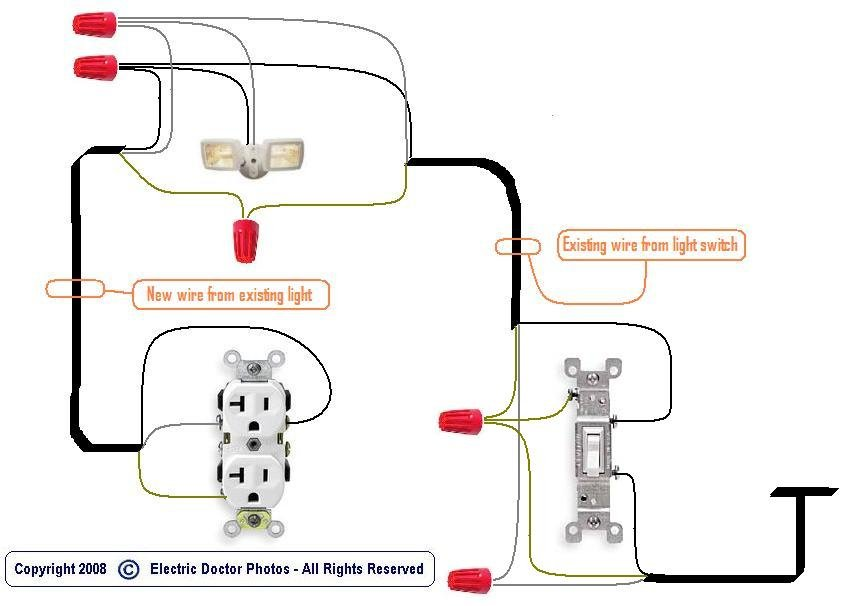 how to add an electrical outlet to an existing line
