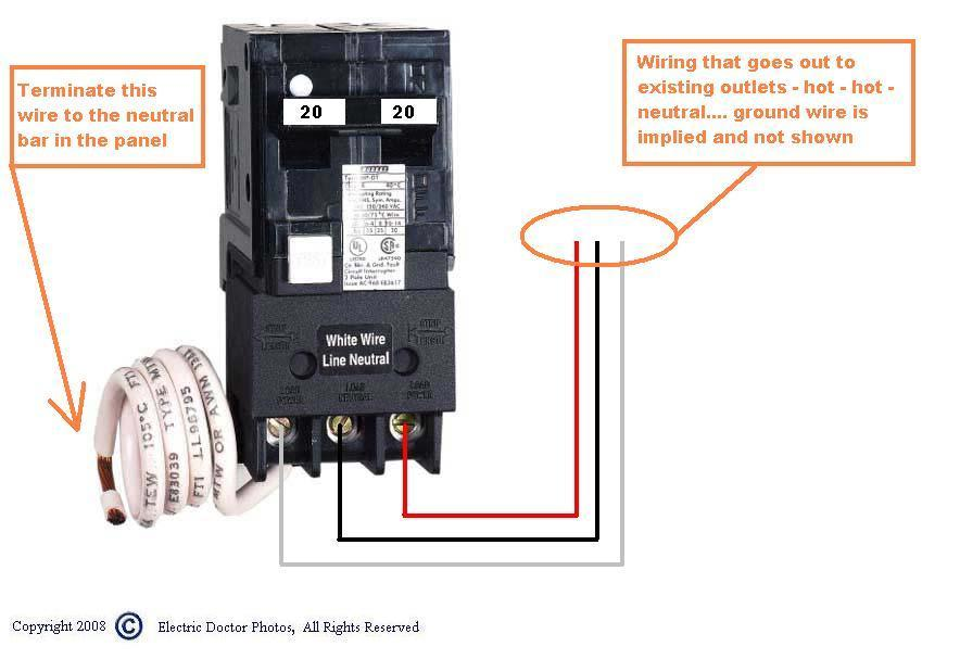 2008 12 07_021429_GFCI_breaker_wiring_double_pole how to install a 220 volt outlet askmediy readingrat net ground fault breaker wiring diagram at readyjetset.co