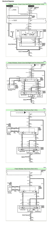 power window wiring schematic diagram