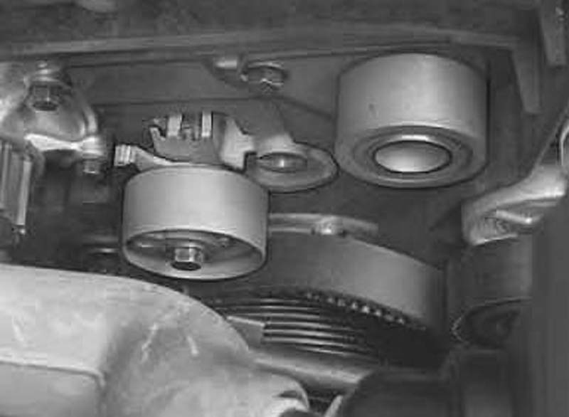Pulley Tensioner Noise : I m working on a volvo xc with it has bad
