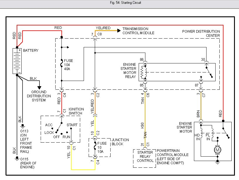 ignition wiring diagram for dodge caravan