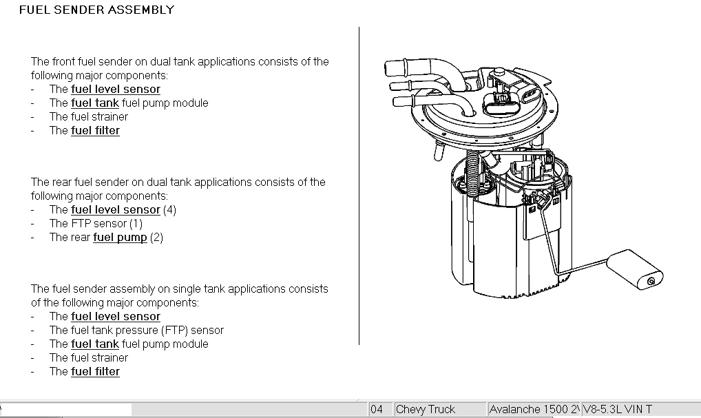 Where Is The Fuel Filter Located On A 2004 Chevy Avalanche