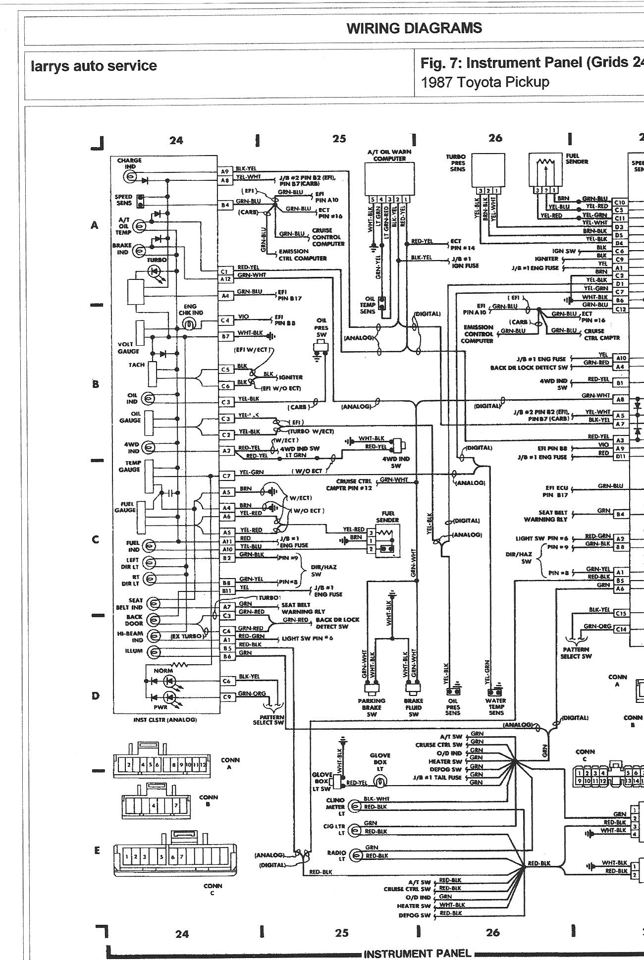 99 chevy pickup headlight wiring diagram i have a 1987 toyota pickup 4wd 22r engine. my temp gauge ... #15