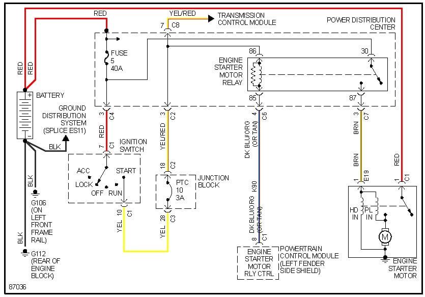 howtorepairguide com starter relay wiring diagram for 2002 chrysler sebring starter wiring diagram 2002 chrysler sebring starter wiring diagram