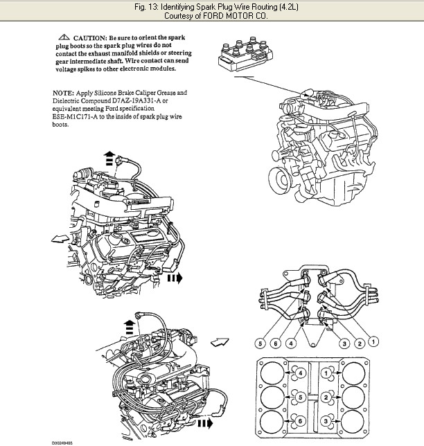 I Need A Spark Plug Wiring Diagram  From The Distributor Cap To The Plug  For A 2000 F