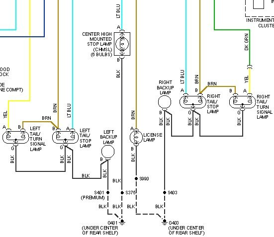 wiring diagram for 2007 saturn ion installing a 4-port/prong trailer wiring plug and need to ... wiring diagram for 1998 saturn
