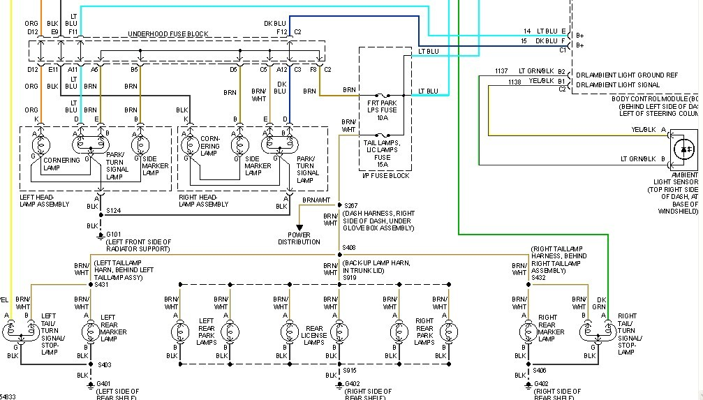 2002 buick century wiring schematic i have a 2002 buick century. the dash lights and tail ...