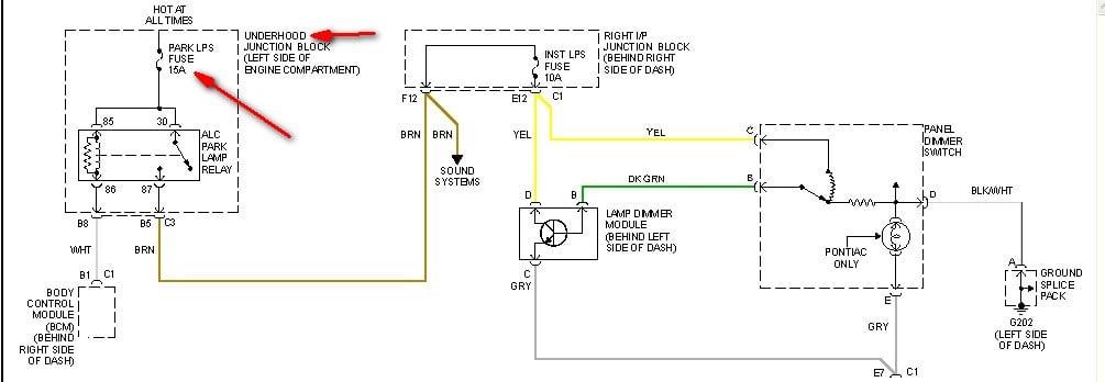 Instrument Panel Lights Do Not Work In My 1999 Alero