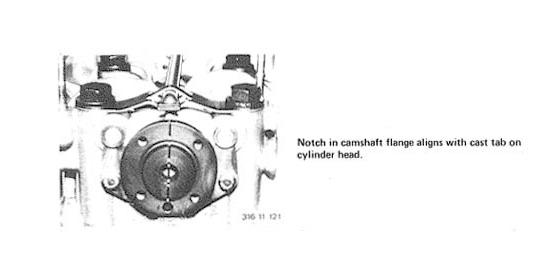 1983 bmw 320i timing marks for camshaft and crankshaft gears diagram graphic