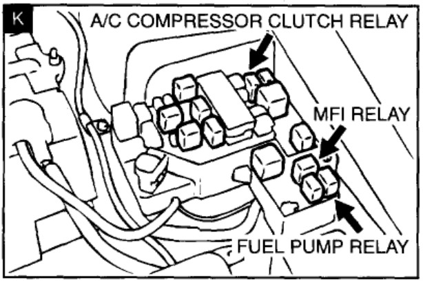 i am looking for the fuel pump relay on a 2001 dodge