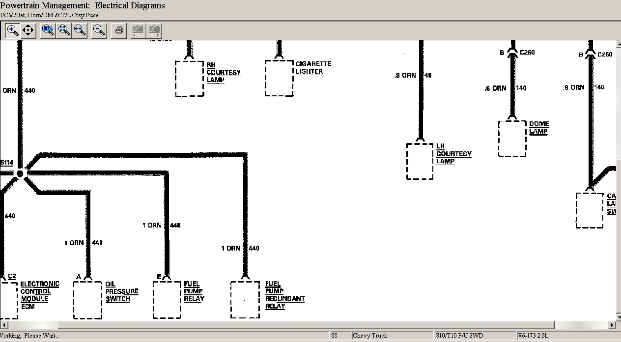 Need Wiring Diagram For 1988 Chevy S10 Pickup Fuse Ecm