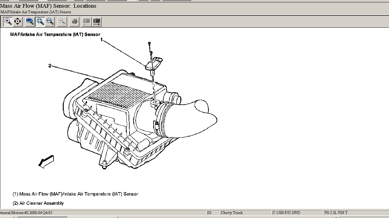 what is the location of the air intake temperature sensor