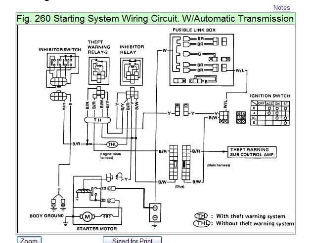 1987 nissan wiring diagram where is the relay switch for the starter or ignition on a ... #3