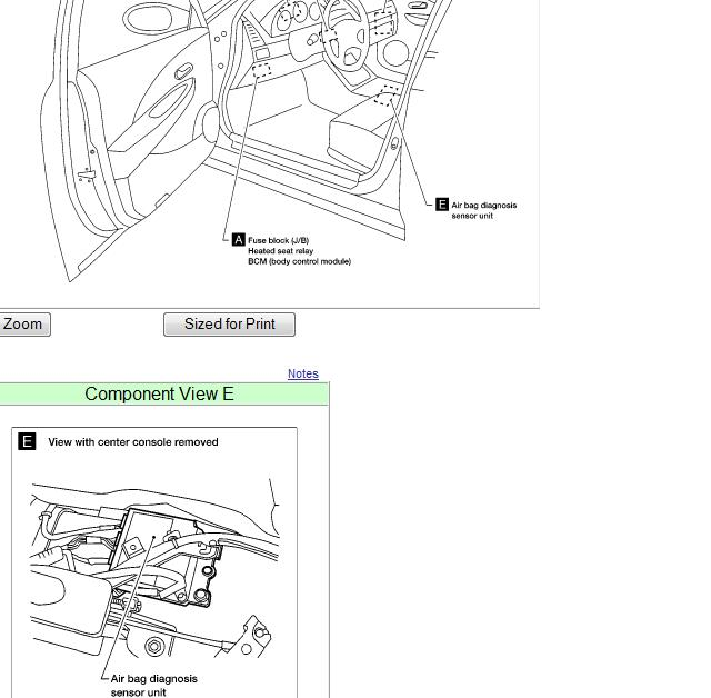 Where Is The Airbag Control Module Located On A 2002