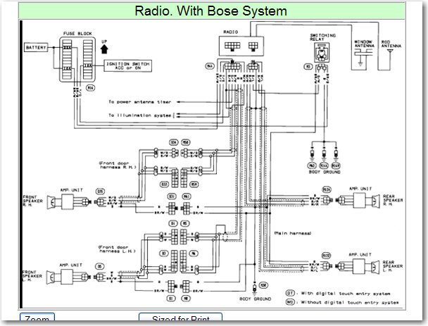 Nissan Bose Stereo Wiring Codes | Wiring Diagram on infiniti g20 repair manual, infiniti transfer case, infiniti accessories, infiniti fuses, infiniti parts,