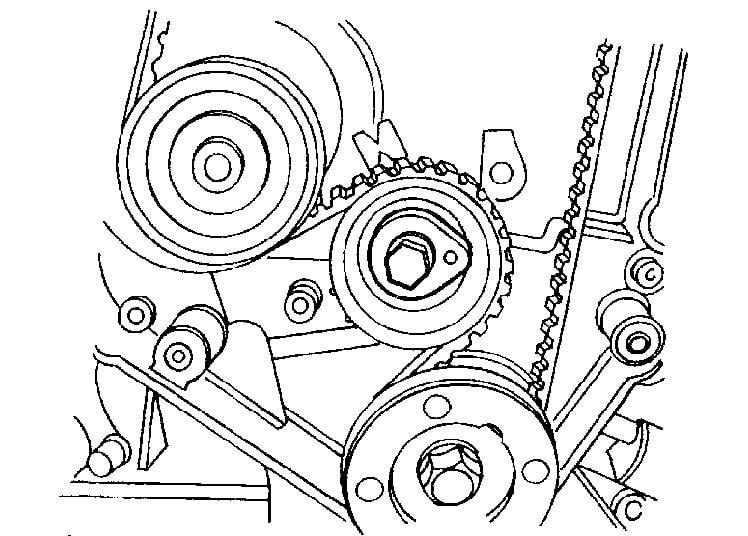 service manual  1994 mercury tracer crankshaft timing belt