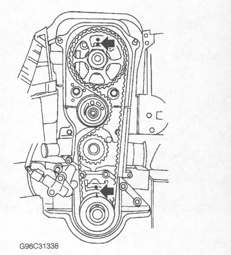 How To Set The Gears For The New Timing Belt Installation