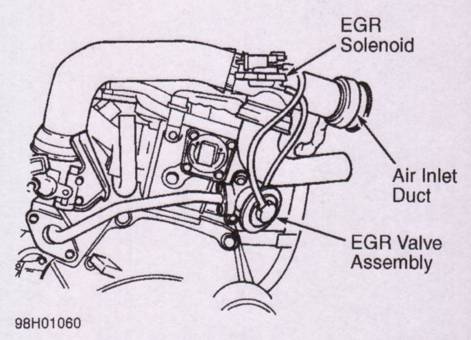 Need To Replace Egr Valve On 98 Dodge Neon  Can Not Find The Valve