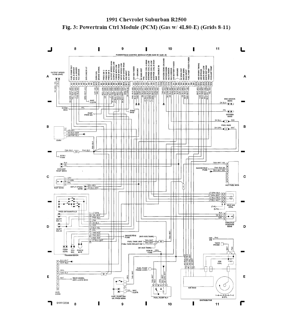 wiring digram for a 1991 suburban 454 tbi a 4l80e trans here they are graphic graphic