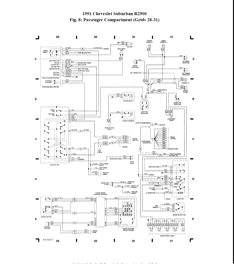 wiring digram for a 1991 suburban 454 tbi a 4l80e trans graphic