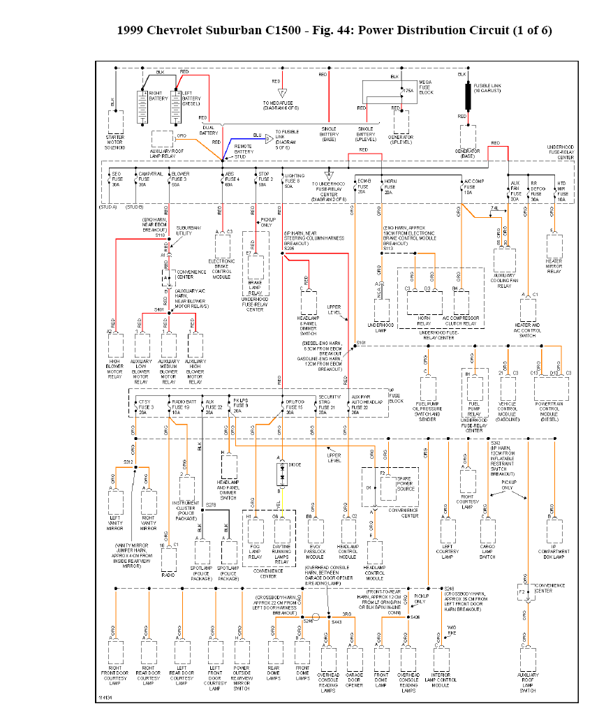 1999 suburban i need a wiring diagram 5 7l graphic