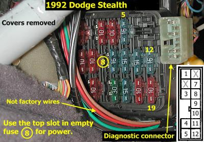 1992 mitsubishi 3000gt the check engine light off sorry i should have told you that here is a picture it is right by your fuse box graphic