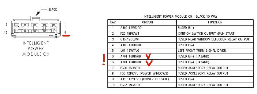 2002 chrysler  dashboard lights  kick  power locks  power