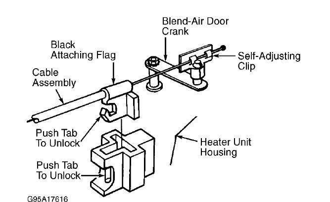 service manual  1996 dodge ram van 2500 blend door removal