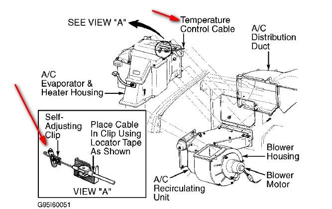 1996 dodge ram van 2500 heater fan remove