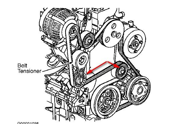 07 chevy uplander serpentine belt diagram