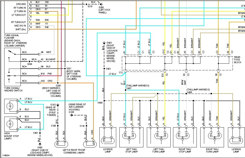 Diagram  1994 Buick Park Avenue Wiring Diagram Full
