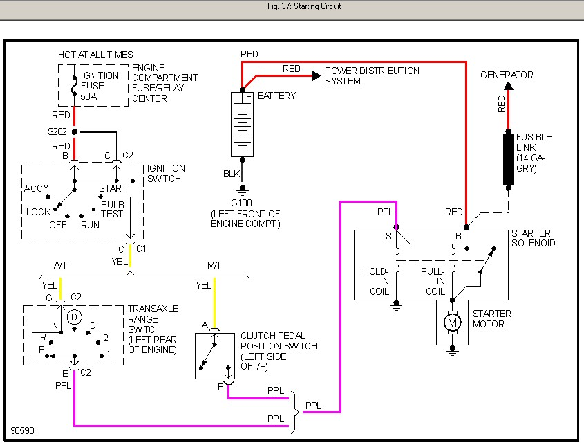 Diagram I Have A 1997 Pontiac Sunfire And It Will Not Turn Over