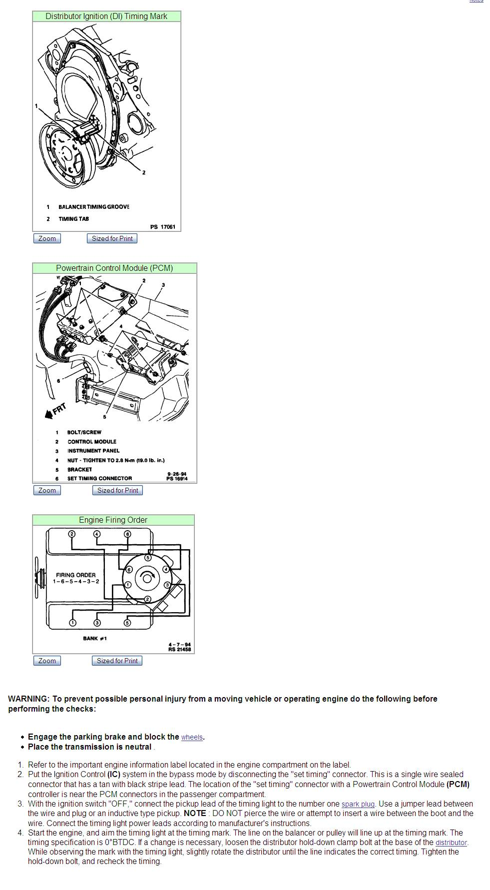Timing Specifications for a 1991 GMC Chevy 4.3 V6 | eHow.com