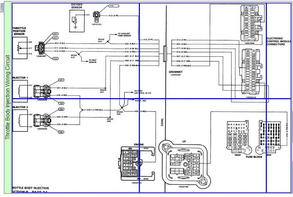 tbi hoses a complete wiring diagram with color codes for
