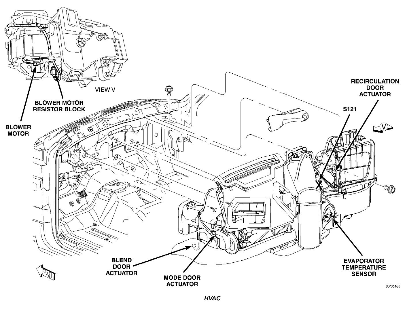 service manual  how to replace 1997 dodge dakota blend door actuator