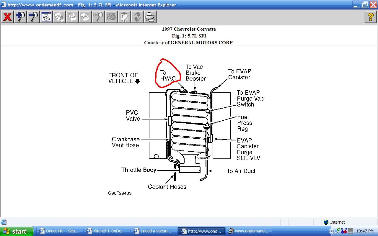 I Need A Vacuum Routing Diagram For A 97 Corvette  I Have A Problem With The Air Delivery