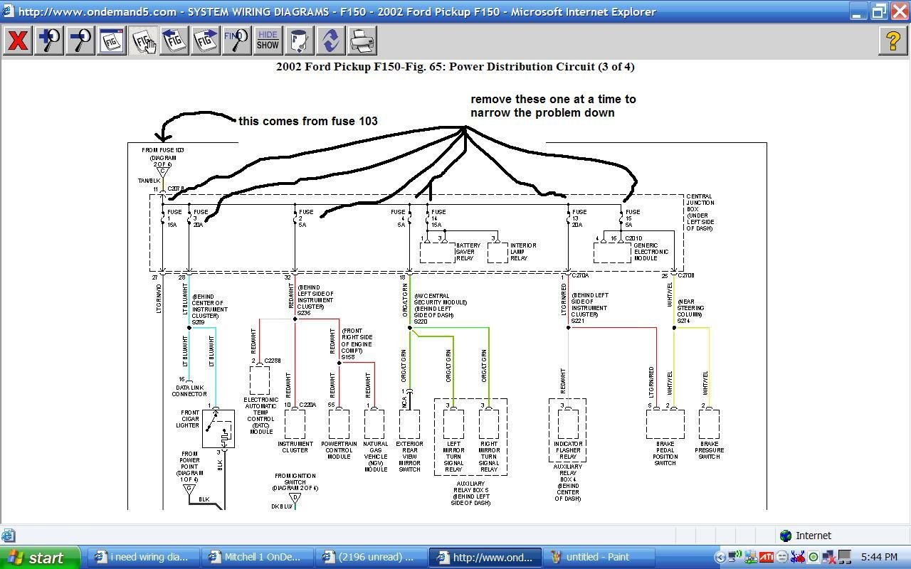 I Need Wiring Diagrams For Under Hood And Dash For A 2002