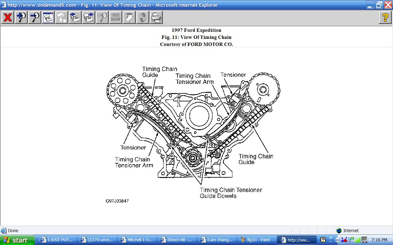 I Am Changing The Timing Chain On My 1997 Ford Expedition  V8  And I Need Instructions  Diagrams