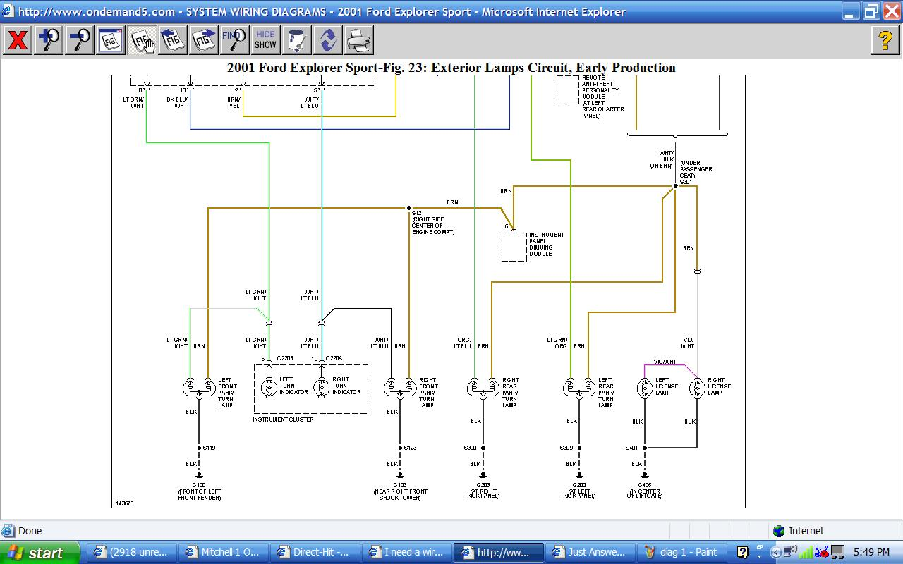 2001 ford explorer sport wiring diagram lite i checked the fuses graphic