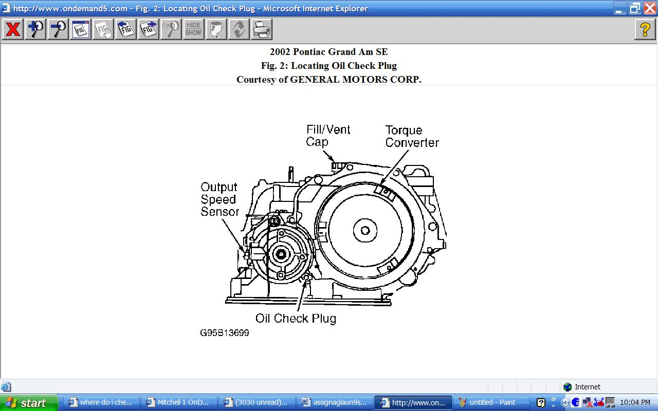 What Does A Torque Converter Do >> Where do i check transmission level at on an automatic ...